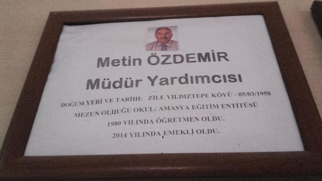 Metin ÖZDEMİR Emekli